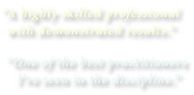 Business Consulting Testimonials