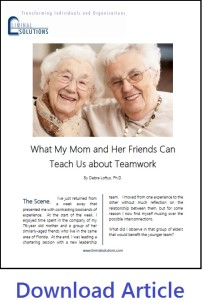 Mom on Teamwork Article Image